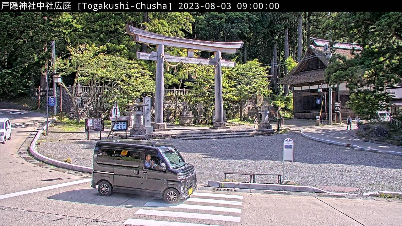 戸隠神社中社広庭 09:00